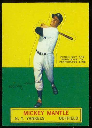 1964 Topps Stand-Ups/Standups - Mickey Mantle [#b] (Yankees) Baseball cards value
