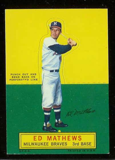 1964 Topps Stand-Ups/Standups - Eddie Mathews SHORT PRINT [#a] (Braves) Baseball cards value