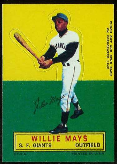 1964 Topps Stand-Ups/Standups - Willie Mays [#a] (Giants) Baseball cards value