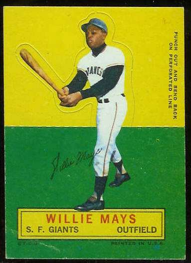 1964 Topps Stand-Ups/Standups - Willie Mays [#b] (Giants) Baseball cards value