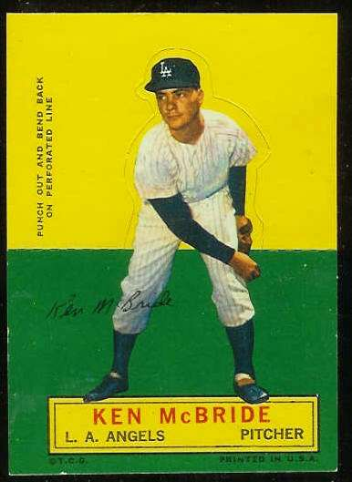 1964 Topps Stand-Ups/Standups - Ken McBride [#b] (Angels) Baseball cards value