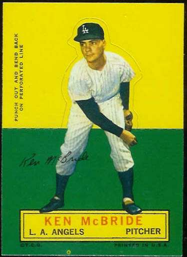 1964 Topps Stand-Ups/Standups - Ken McBride [#c] (Angels) Baseball cards value
