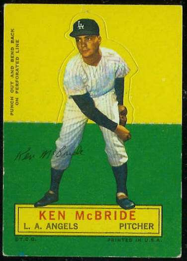1964 Topps Stand-Ups/Standups - Ken McBride [#d] (Angels) Baseball cards value