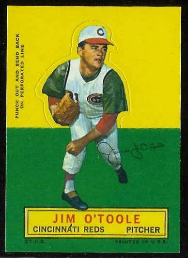 1964 Topps Stand-Ups/Standups - Jim O'Toole [#a] (Reds) Baseball cards value