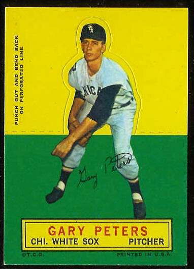 1964 Topps Stand-Ups/Standups - Gary Peters [#a] (White Sox) Baseball cards value