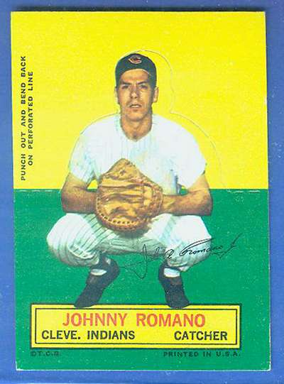 1964 Topps Stand-Ups/Standups - Johnny Romano [#b] (Indians) Baseball cards value
