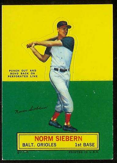 1964 Topps Stand-Ups/Standups - Norm Siebern [#a] (Orioles) Baseball cards value