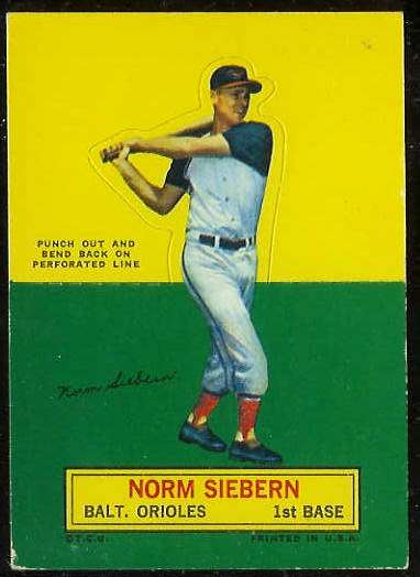 1964 Topps Stand-Ups/Standups - Norm Siebern [#b] (Orioles) Baseball cards value