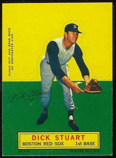 1964 Topps Stand-Ups/Standups - Dick Stuart SHORT PRINT [#b] (Red Sox) Baseball cards value