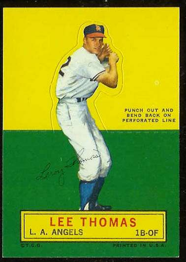 1964 Topps Stand-Ups/Standups - Lee Thomas [#a] (Angels) Baseball cards value