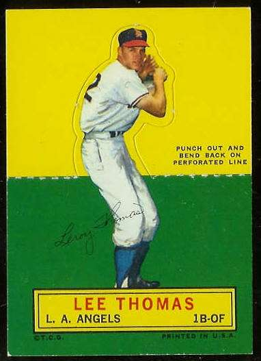 1964 Topps Stand-Ups/Standups - Lee Thomas [#b] (Angels) Baseball cards value