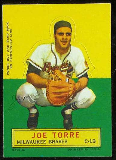 1964 Topps Stand-Ups/Standups - Joe Torre [#a] (Braves) Baseball cards value