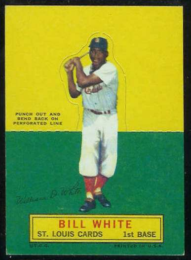 1964 Topps Stand-Ups/Standups - Bill White SHORT PRINT [#c] (Cardinals) Baseball cards value