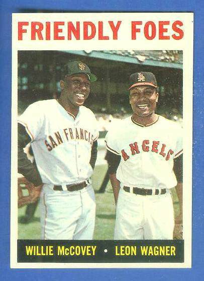 1964 Topps #.41 'Friendly Foes' (Willie McCovey/Leon Wagner) [#a] Baseball cards value