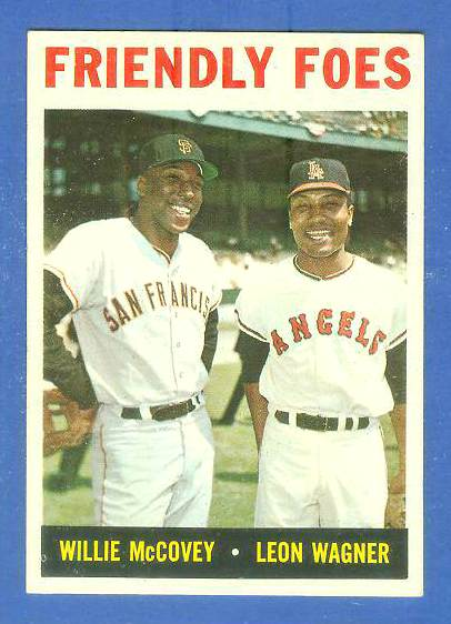 1964 Topps #.41 'Friendly Foes' (Willie McCovey/Leon Wagner) [#b] Baseball cards value
