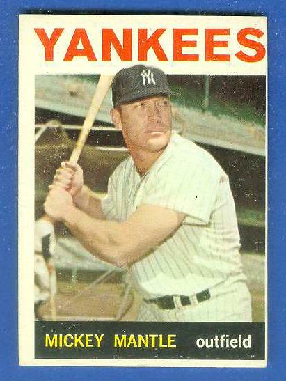 1964 Topps #.50 Mickey Mantle (Yankees) Baseball cards value