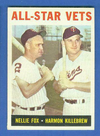 1964 Topps #.81 'All-Star Vets' (Nellie Fox/Harmon Killebrew) Baseball cards value
