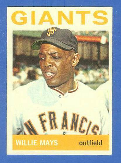 1964 Topps #150 Willie Mays [#b] (Giants) Baseball cards value