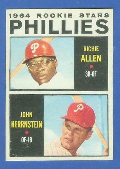 1964 Topps #243 Richie Allen ROOKIE w/John Hernstein [#b] (Phillies) Baseball cards value