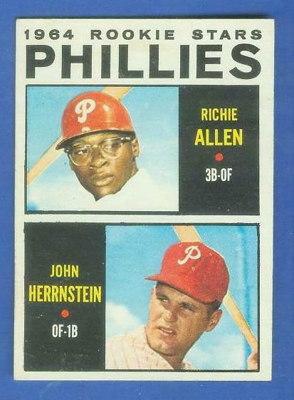 1964 Topps #243 Richie Allen ROOKIE w/John Hernstein [#c] (Phillies) Baseball cards value