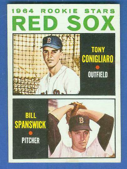 1964 Topps #287 Tony Conigliaro ROOKIE 'VAR:No blue line' [#d] Baseball cards value
