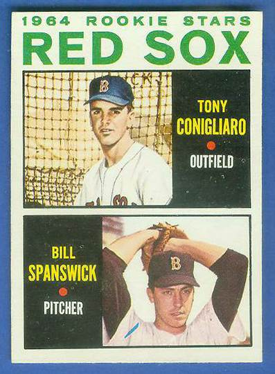 1964 Topps #287 Tony Conigliaro ROOKIE 'VAR:Blue line' [#e] Baseball cards value