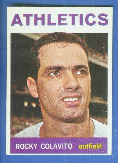 1964 Topps #320 Rocky Colavito [#a] (Kansas City A's) Baseball cards value