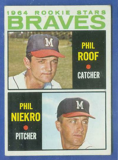 1964 Topps #541 Phil Niekro ROOKIE SCARCE SHORT PRINT [#a] (Braves) Baseball cards value