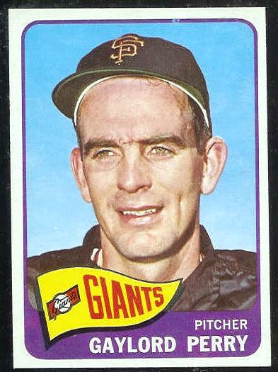 1965 Topps #193 Gaylord Perry [#a] (Giants) Baseball cards value