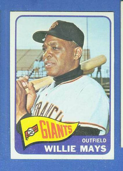 1965 Topps #250 Willie Mays [#b] (Giants) Baseball cards value