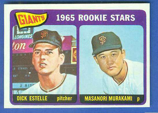 1965 Topps #282 Giants Rookies [#a] (with Masanori Murakami, Dick Estelle) Baseball cards value