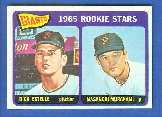 1965 Topps #282 Giants Rookies [#b] (with Masanori Murakami, Dick Estelle) Baseball cards value