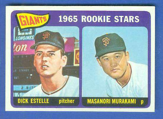 1965 Topps #282 Giants Rookies [#c] (with Masanori Murakami, Dick Estelle) Baseball cards value
