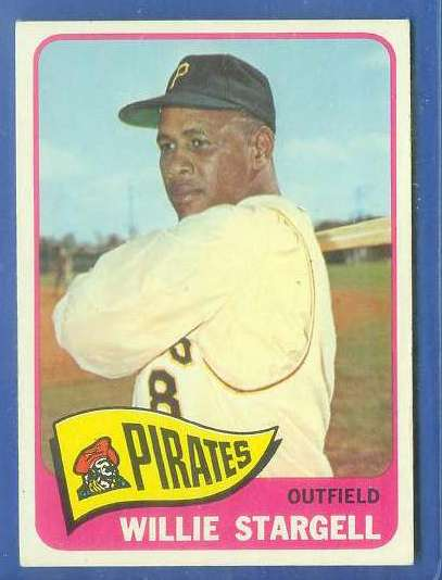 1965 Topps #377 Willie Stargell [#b] (Pirates) Baseball cards value
