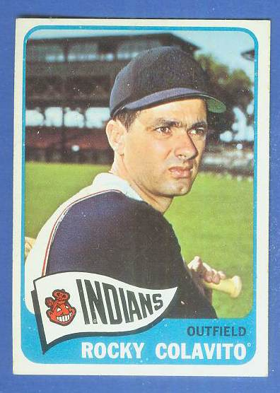 1965 Topps #380 Rocky Colavito [#a] (Indians) Baseball cards value