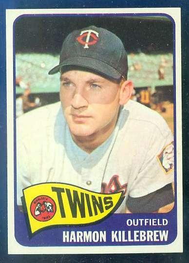 1965 Topps #400 Harmon Killebrew [#a] (Twins) Baseball cards value
