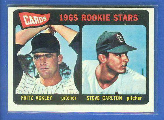 1965 Topps #477 Steve Carlton ROOKIE [#c] (Cardinals, Hall-of-Famer) Baseball cards value