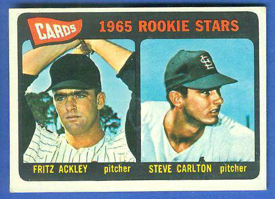 1965 Topps #477 Steve Carlton ROOKIE [#d] (Cardinals, Hall-of-Famer) Baseball cards value