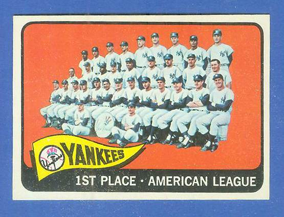 1965 Topps #513 Yankees TEAM card [#a] Baseball cards value