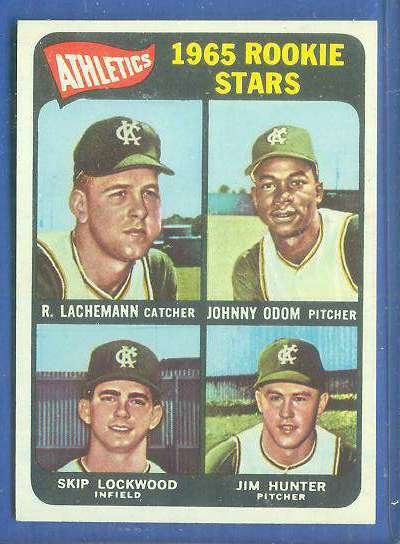 1965 Topps #526 Jim 'Catfish' Hunter SHORT PRINT ROOKIE [#c] (A's) Baseball cards value