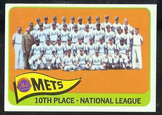 1965 Topps #551 Mets TEAM card SHORT PRINT [#a] Baseball cards value