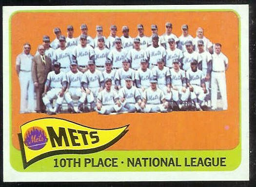 1965 Topps #551 Mets TEAM card SHORT PRINT [#b] Baseball cards value