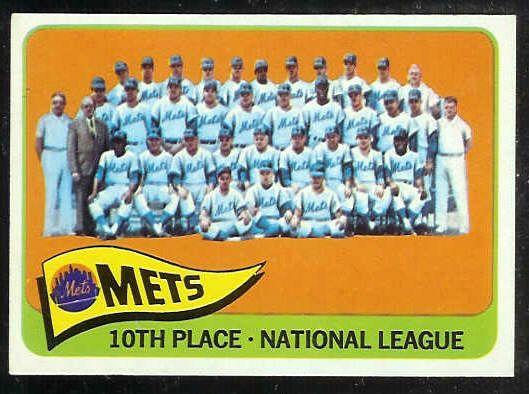 1965 Topps #551 Mets TEAM card SHORT PRINT [#c] Baseball cards value