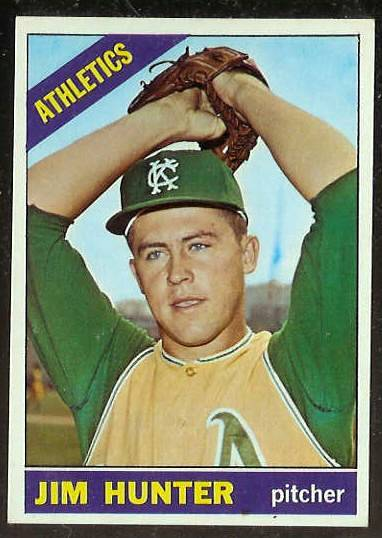1966 Topps #.36 Jim Hunter [#d] (Kansas City A's) Baseball cards value