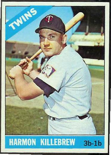 1966 Topps #120 Harmon Killebrew [#a] (Twins) Baseball cards value