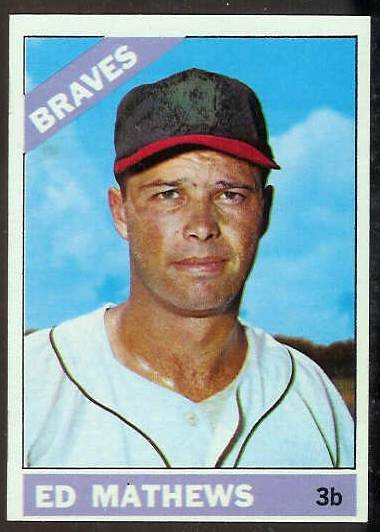1966 Topps #200 Ed Mathews [#b] (Braves) Baseball cards value