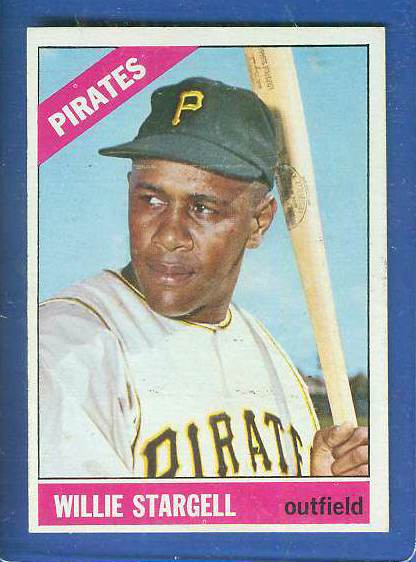 1966 Topps #255 Willie Stargell [#a] (Pirates) Baseball cards value