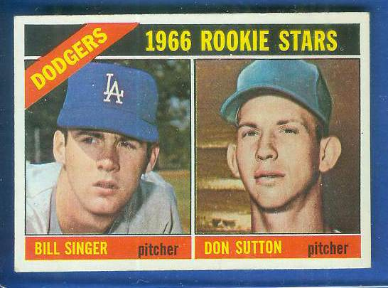 1966 Topps #288 Don Sutton ROOKIE (w/Bill Singer) [#a] (Dodgers) Baseball cards value