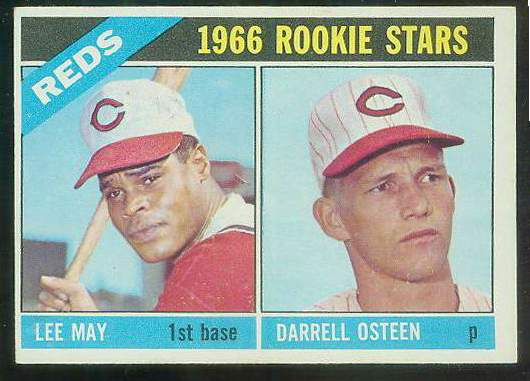 1966 Topps #424 Reds ROOKIES [#b] (Lee May,Darrell Osteen) Baseball cards value