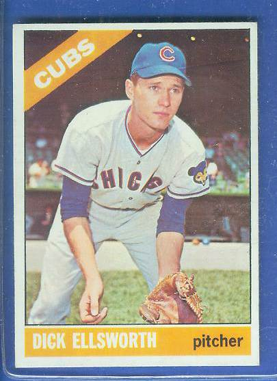1966 Topps #447 Dick Ellsworth TOUGH SEMI-HI# [#b] (UER) (Cubs) Baseball cards value